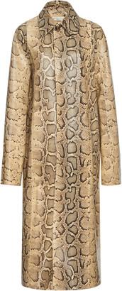 Bottega Veneta Python-Printed Coat