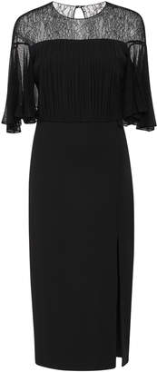 Cushnie Cate Lace And Jersey Midi Dress