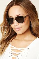 Forever 21 FOREVER 21+ Brow Bar Aviator Sunglasses