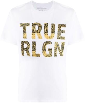 True Religion snakeskin logo T-shirt