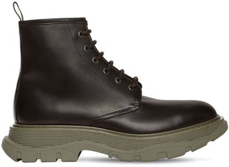 Alexander McQueen Leather Combat Boots