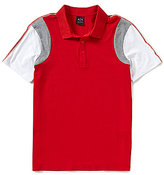 Armani Exchange Color Block Short-Sleeve Polo Shirt