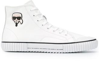 Karl Lagerfeld Paris motif hi-top sneakers