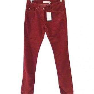 Etoile Isabel Marant Red Velvet Trousers