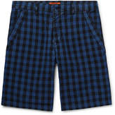 Barena - Buffalo Checked Cotton Shorts