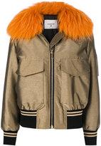 Dondup fur-trim coat