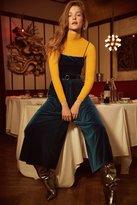 Urban Outfitters Emmabella Velvet Straight-Neck Jumpsuit