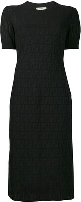 Fendi FF motif longette dress