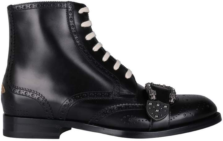 Gucci Queercore Leather Boots