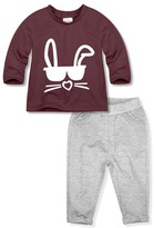 Mulberry Bunny Tee & Gray Pants - Infant & Toddler
