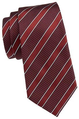 Emporio Armani Diagonal Stripe Silk Tie