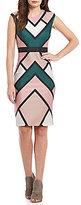 Vince Camuto Geometric Bodycon Dress