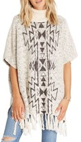 Billabong Homeward Bound Knit Turtleneck Poncho