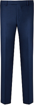 Daniel Hechter Flannel Tailored Suit Trousers, Blue