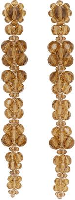 Simone Rocha Orange Long Cluster Drip Earrings