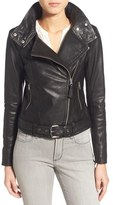 Mackage Women's Belted Leather Moto Jacket