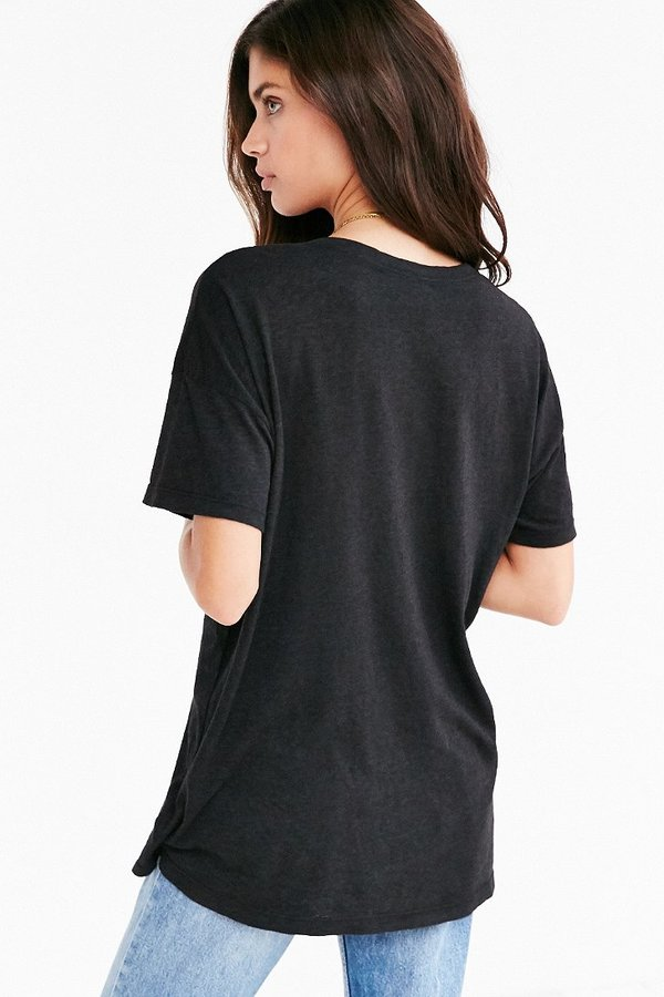 Truly Madly Deeply V-Neck Slouch Pocket Tee