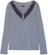 Cosabella Perugia lace-trimmed Pima cotton and modal-blend pajama top