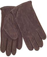 John Lewis Suede Sandwich Top Stitch Gloves, Brown