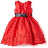 Red Floral A-Line Dress - Infant Toddler & Girls