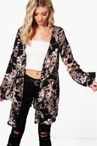 boohoo Rosie Floral Chiffon Kimono