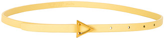 Bottega Veneta Triangle Skinny Belt in Butter & Gold | FWRD