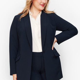 Talbots Stretch Crepe Long Blazer