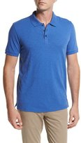 Vince Slub Cotton Polo Shirt, Bright Blue