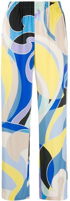 Emilio Pucci Abstract-Print Relaxed Trousers