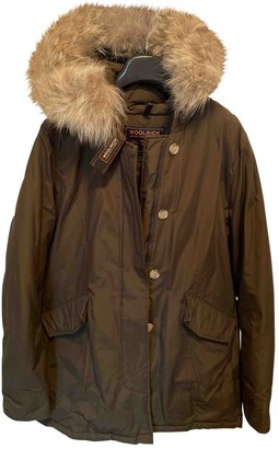 Woolrich Green Cotton Coat for Women