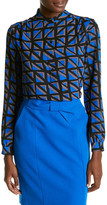 Anne Klein Polyester Espalier Print Tunic Blouse