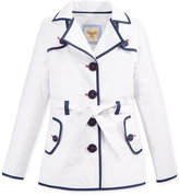 Tommy Hilfiger Girls' Piped Trench Coat