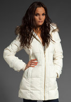 Classic Puffer Coat with Removable Faux Fur Hood