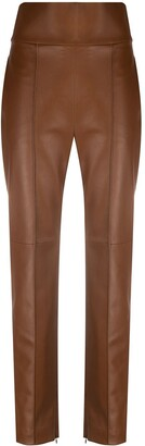 Alexandre Vauthier High-Waisted Leather Trousers