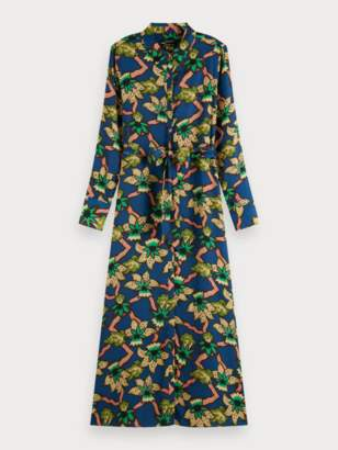 Scotch & Soda Belted Maxi Dress in Navy - xs