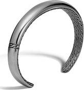 John Hardy Men's Classic Chain Cuff Bracelet, Silver/Black