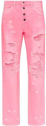 Amiri high-waisted button-down straight leg jeans