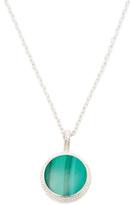 Malachite Circle Pendant Necklace
