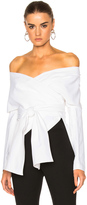 Rosetta Getty Cotton Faille Wrap Panel Jacket