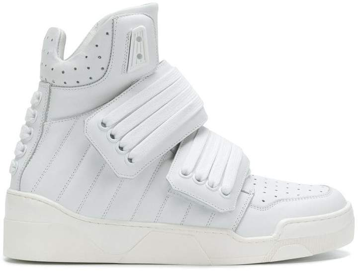 Les Hommes velcro hi-top sneakers