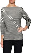 Lafayette 148 New York Pintuck Intarsia Sweater