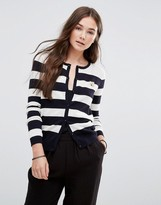 Maison Scotch Striped Button Up Cardigan