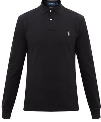 Polo Ralph Lauren Logo-embroidered Cotton Polo Shirt - Mens - Black