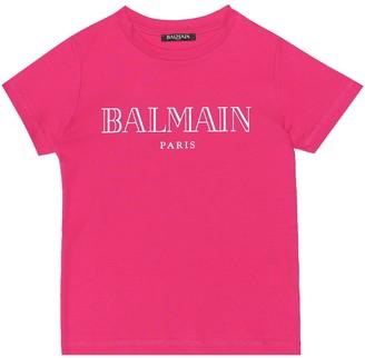 Balmain Kids Exclusive to Mytheresa Logo cotton-jersey T-shirt