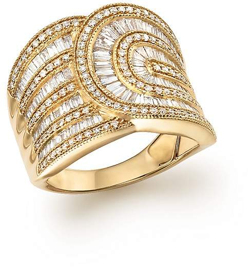 Bloomingdale's Diamond Round and Baguette Band in 14K Yellow Gold, 1.30 ct. t.w.
