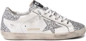 Golden Goose Superstar Sneaker in White/Silver