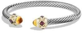 David Yurman Bracelet with Rhodalite Garnet, Citrine and 14K Gold