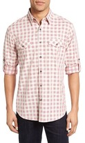 James Campbell Men's Fass Regular Fit Check Sport Shirt