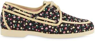 Gucci x Liberty floral boat shoe