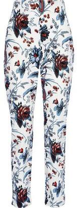 Diane von Furstenberg Dakota Printed Stretch-cotton Twill Slim-leg Pants